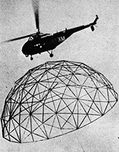 geo-dome helecopter